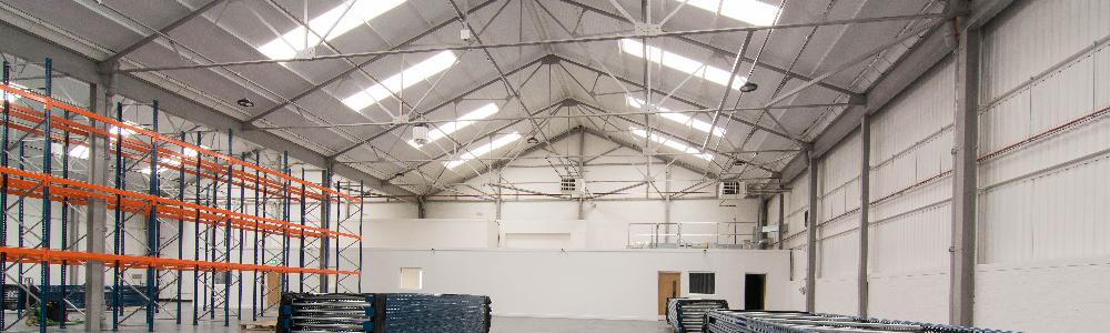 450 Hillington Road - Refurbished storage area in warehouse